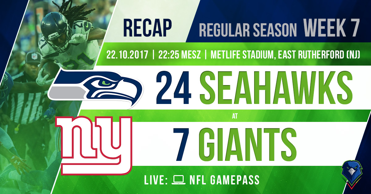 Recap Seahawks @ Giants