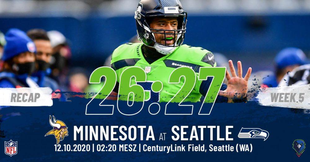 Recap Week 5, 2020 Minnesota Vikings