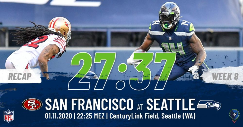Recap Week 8, 2020 San Francisco 49ers