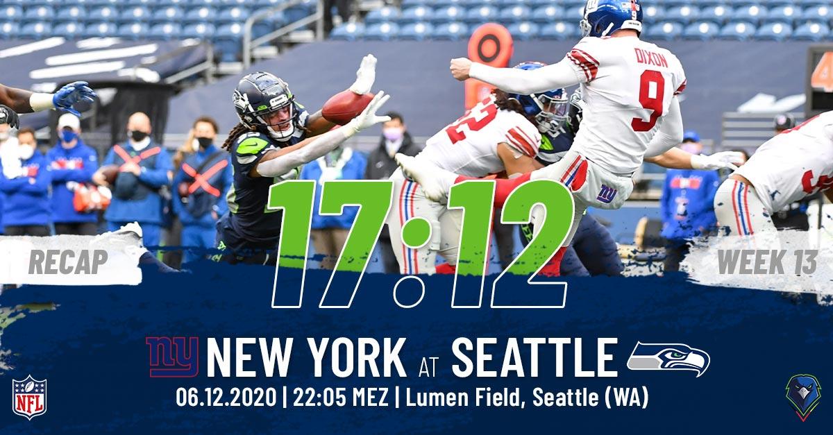 Recap Week 13, 2020 New York Giants