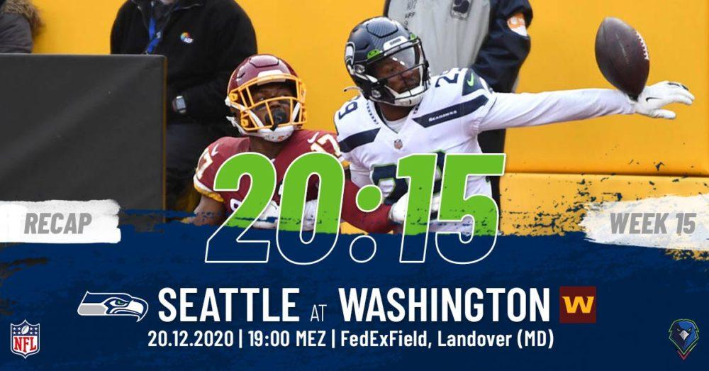 Recap Week 15, 2020 Washington Football Team