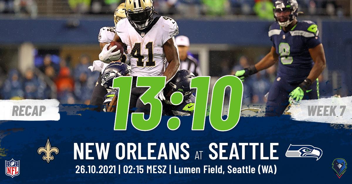 Seahawks Recap Week 7, 2021 New Orleans Saints
